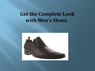 Get the Complete Look with Men's Shoes | shoes