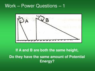 Work � Power Questions � 1