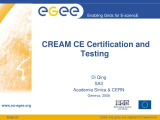 CREAM CE Certification and Testing
