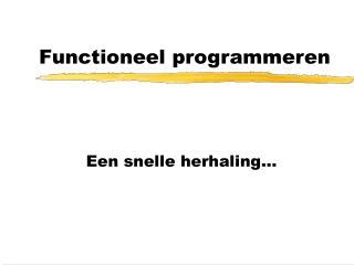 Functioneel programmeren