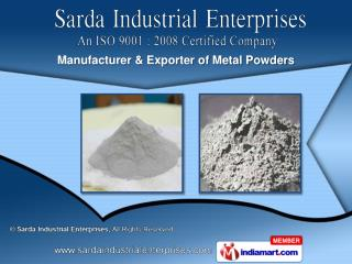 Lead Powder & Zinc Powder