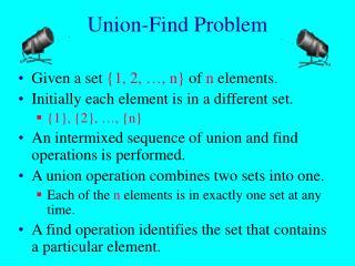 Union-Find Problem