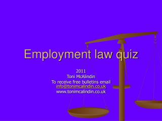 Employment law quiz