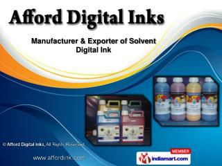 Ecosolvent Inks &  Inkjet Inks