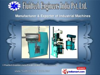 Industrial Mills &  High Speed Dispersers