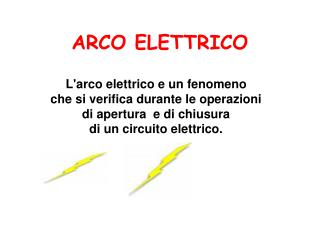 ARCO ELETTRICO