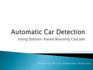 Automatic Car Detection