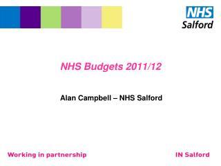 NHS Budgets 2011/12
