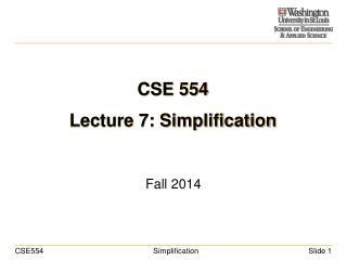 CSE 554 Lecture 7: Simplification