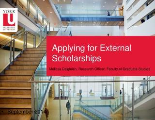 Applying for External Scholarships