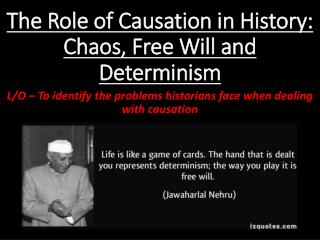 The Role of Causation in History: Chaos, Free Will and Determinism