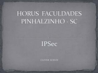 HORUS  FACULDADES  PINHALZINHO - SC