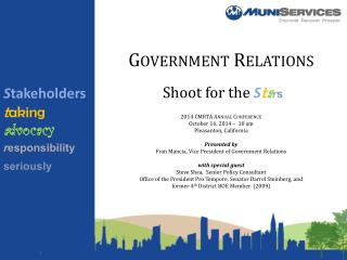 Shoot for the  S t a r s 2014 CMRTA Annual Conference October 16, 2014 –  10 am