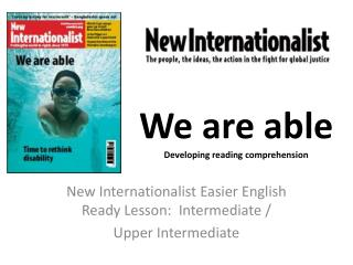 We are able Developing reading comprehension