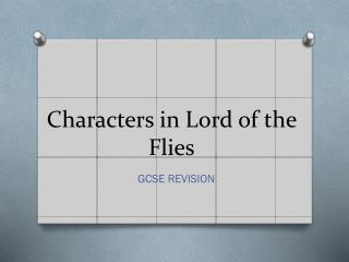 Characters in Lord of the Flies