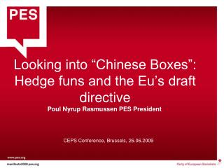 "Looking into ""Chinese Boxes"": Hedge funs and the Eu's draft directive"