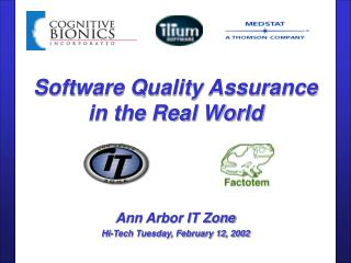 Software Quality Assurance in the Real World