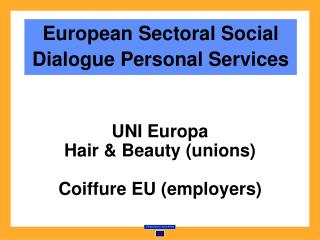 European Sectoral Social Dialogue Personal Services
