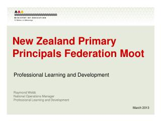 New Zealand Primary Principals Federation Moot