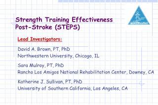 Strength Training Effectiveness  Post-Stroke STEPS
