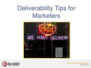 Deliverability Tips for Marketers