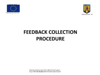 FEEDBACK  COLLECTION PROCEDURE