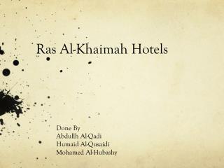 Ras  Al- Khaimah  Hotels