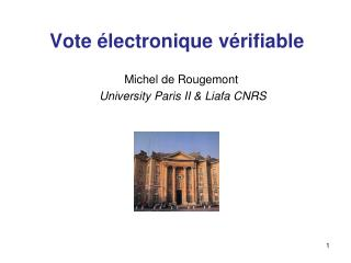 Vote �lectronique v�rifiable