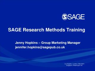 SAGE  Research Methods Training