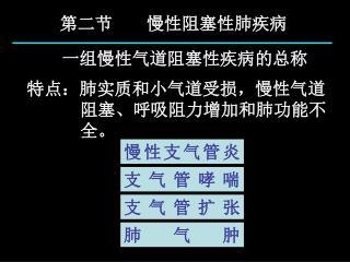 第二节       慢性阻塞性肺疾病