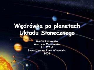Wędrówka po planetach Układu Słonecznego