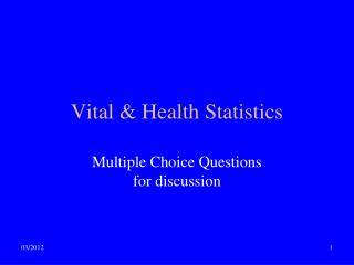 Vital & Health Statistics