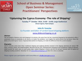 School of Business & Management Open  Seminar Series:  Practitioners ' Perspectives