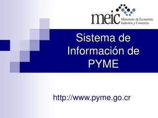 Sistema de Información de PYME