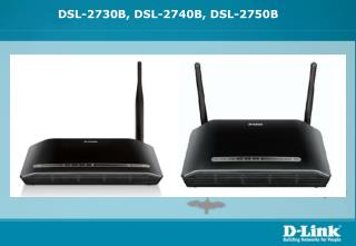 DSL-2730B, DSL-2740B,  DSL-2750B