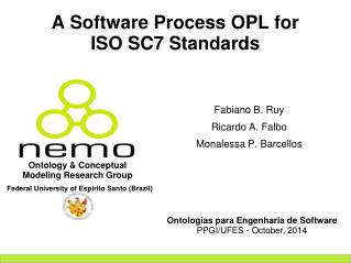 A Software Process OPL for ISO SC7 Standards