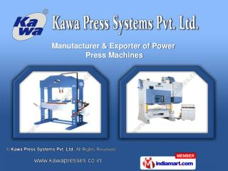 Hydraulic Press  &  Press Brake Machines