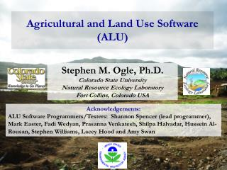 Agricultural and Land Use Software (ALU)
