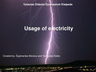 Vytautas Didysis Gymnasium  Klaipeda