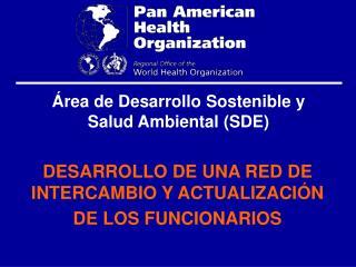 Área de Desarrollo Sostenible y Salud Ambiental (SDE)
