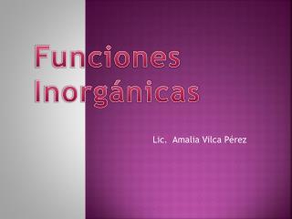 Lic.  Amalia Vilca Pérez
