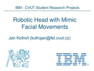 Robotic Head with Mimic Facial Movements