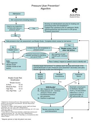Pressure Ulcer Prevention 1 Algorithm