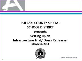 PULASKI COUNTY SPECIAL  SCHOOL DISTRICT  presents Setting  up  an