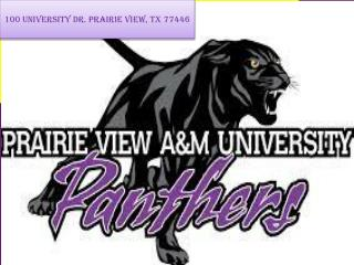 100 University  Dr.  Prairie View, TX 77446