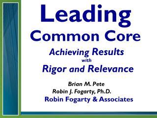 Leading Common Core