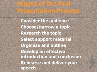 Stages of the Oral Presentation Process