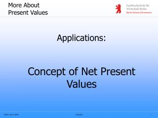 More About Present Values