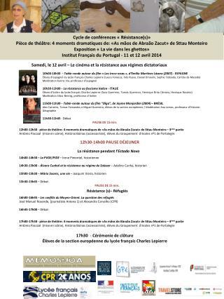 Cycle de conférences «Résistance(s)»