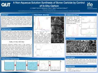A Non-Aqueous Solution Synthesis of Boron Carbide by Control  of In-Situ Carbon